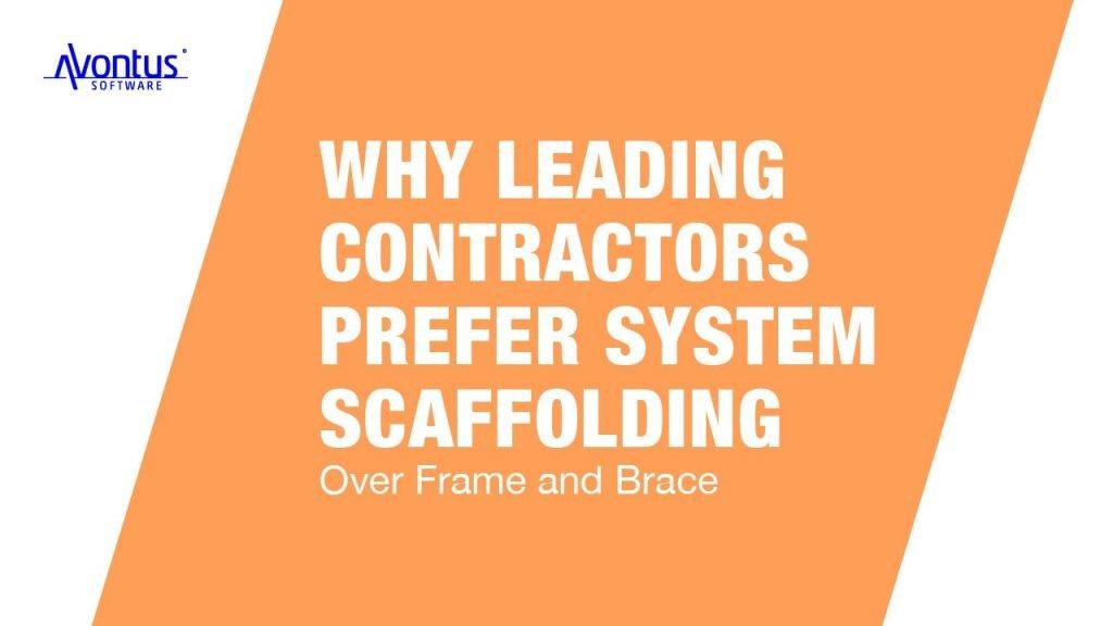 System scaffolding vs Frame and brace
