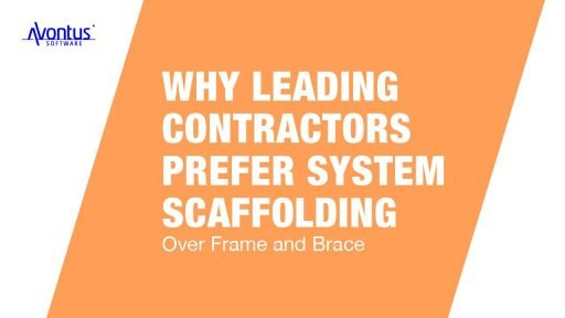 System scaffolding vs Frame and brace