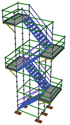 Delightful In Addition To The Stock Stair Tower Types Available With Scaffold Designer  2015, You Can Easily Create Stair Towers With Side Bracket Turnaround Bays.