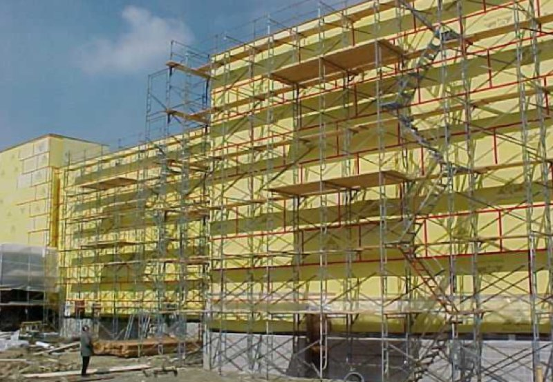 frame and brace scaffolding construction