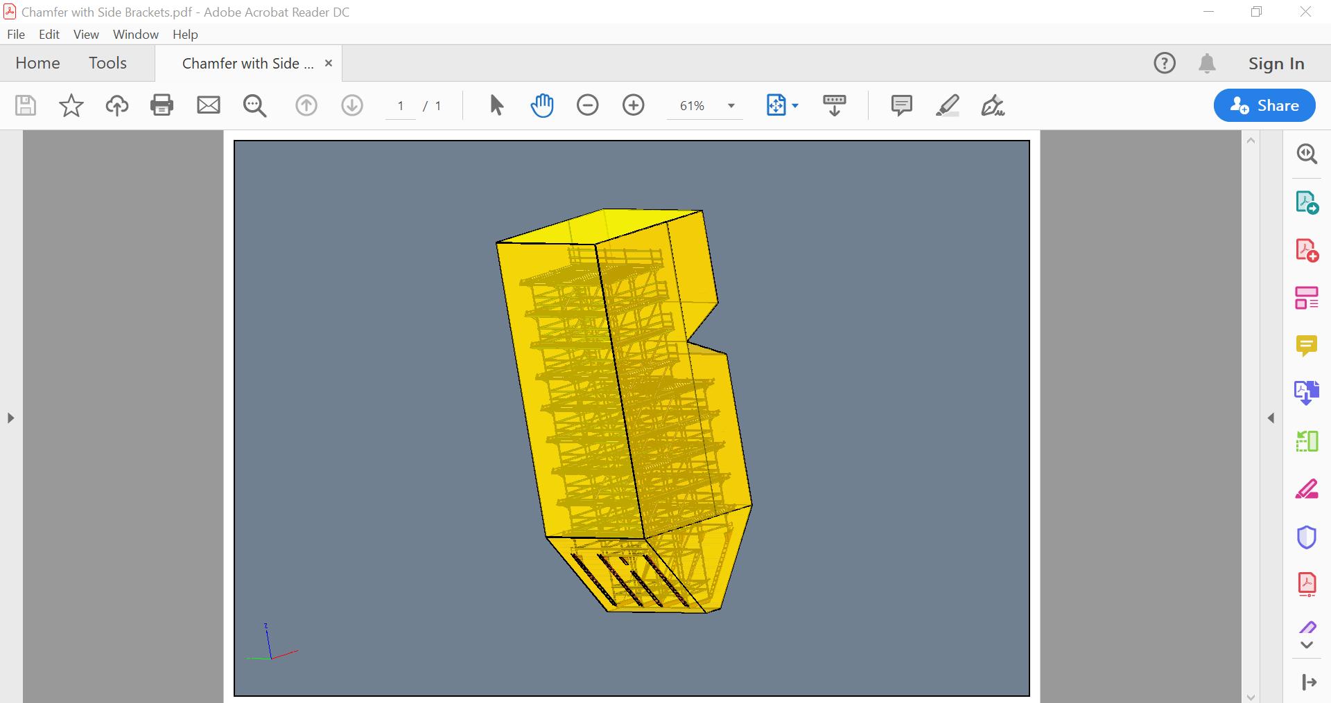 Screenshot of a 3D model exported into PDF format.