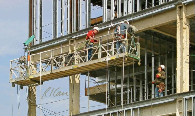 suspended or swing set scaffolding construction