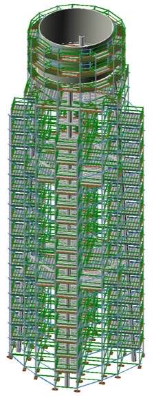 3D scaffold drawing by Apache Industrial