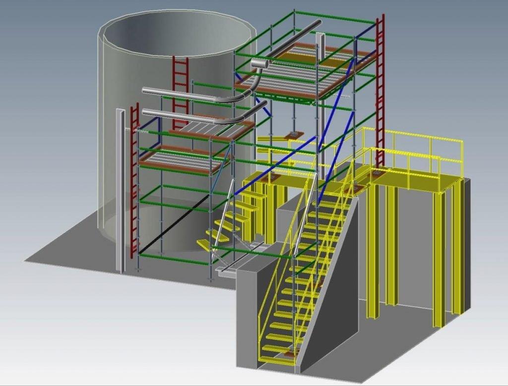 3D scaffold drawing by Bilt Rite Scaffold