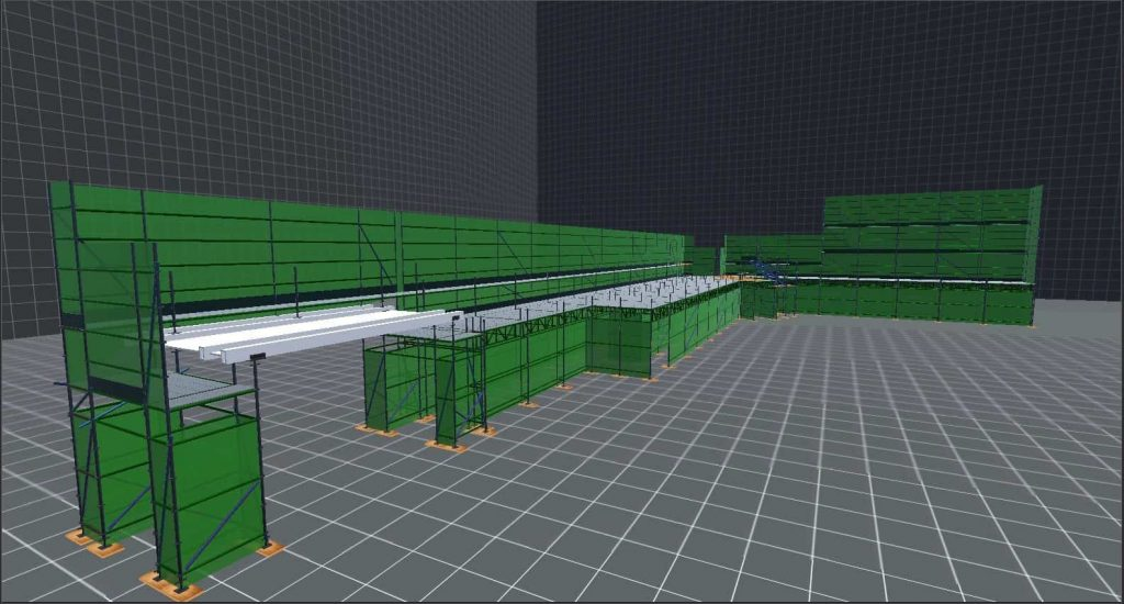 3D scaffold drawing by Brand Energy