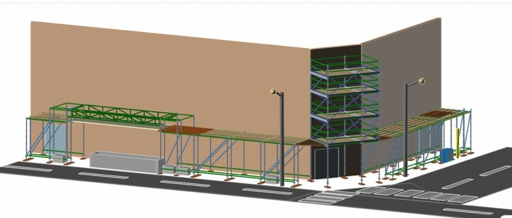 3D scaffold drawing by Don Fry Scaffolding Service