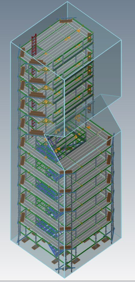 3D scaffold drawing by Helfrish Brothers