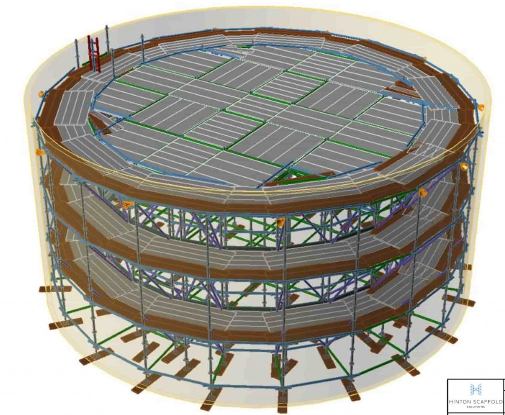 3d scaffold drawing by Hinton Scaffold Solution