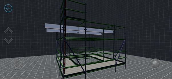scaffold designer 3D model