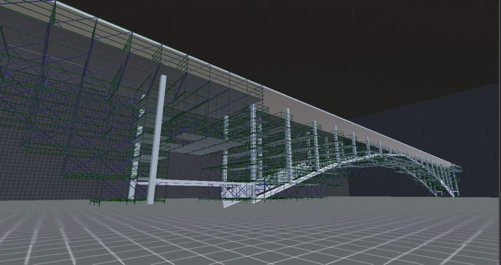 3D scaffold drawing by Industrial Site Services