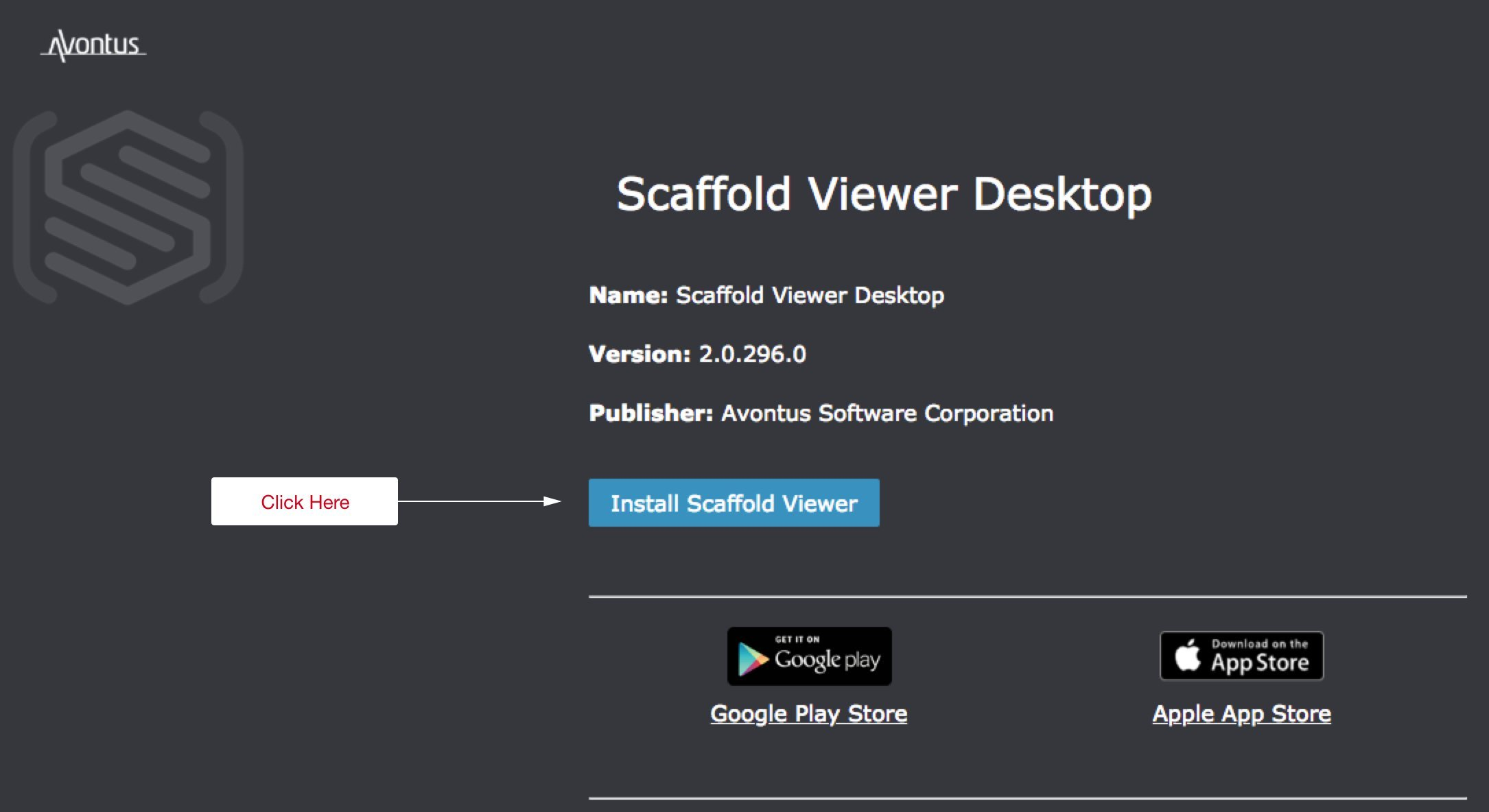 """Click """"Install Scaffold Viewer""""."""