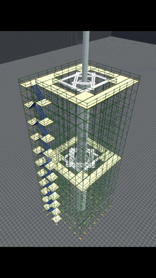 3D scaffold drawing by Sancton Access